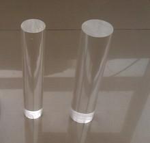 transparente de acrílico sólido tubo de plástico transparente de la barra