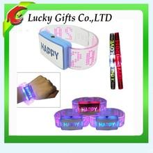 Elegant Silicone LED Slap Bracelet Reusable Silicon Wristbands