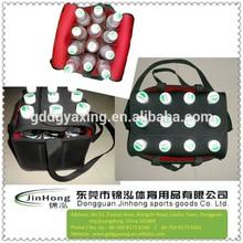 12 Pack Neoprene Bottle Cooler Bag Portable Beverage Carry Bag