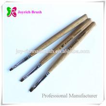 Suppliers of nail products natural wooden kolinsky gel nail polish brush