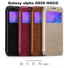 Retro Series Brand Hoco Leather Phone Case For Samsung Galaxy Alpha G850,Winddow View For Samsung Galaxy Alpha G850 Case