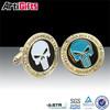 Promotion cheap custom gold custom metal cufflinks