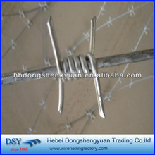low price/ security hot dipped gavlanized barbed iron wire/electric galvanized barbed wire (anping factory,since1985)