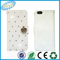 bling diamond multi function leather case stand and flip case cover