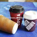 A natureza de café de papel copo, xícara de café de impressão, copos de papel para o cappuccino