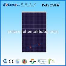 polycristalline solar panel 250 watt solar cells 6x6