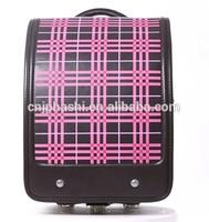BL.RS.0022- stripe PU school bags Japan Randoseru protectIon spine/back colorful style school bag