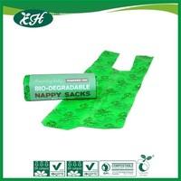 wholesale promotional biodegradable custom printed supermarket cheap shopping plastic t-shirt bag