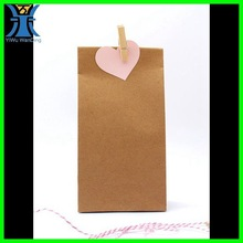 Yiwu 2015 New Arrived wholesale plain handmade brown blank craft cheap unique little paper bags