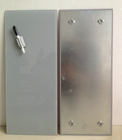 magnetic offical glass whiteboard,grey 20x60cm