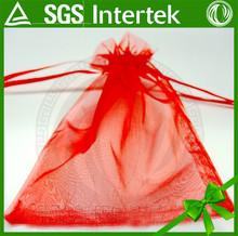 wholesale custom pure color drawstring Organza bag