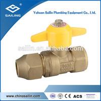 light weight brass gas ball valve