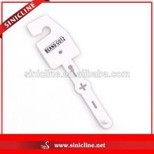 Sinicline White Plastic Hanger for Plastic Bags