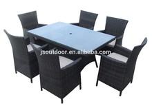 Rattan furniture 7pcs dinner table