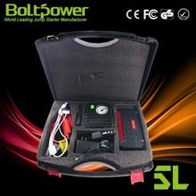 Boltpower GO6A battery starter pack jump starter connect jumper cables to jump start 6L gas car