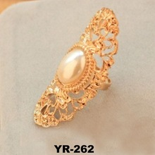 Wholesale costume jewelry 2015 fashion ring wedding ring with big Pearl