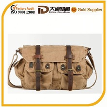 Khaki mens canvas menssenger bag