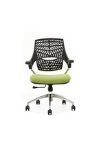 wide seat medium back office swivel chair with height adjustable
