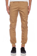 Mens khaki jogging cotton trouser