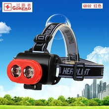 Goread GD32 pig nose red plastic High bright LED head lamp cheap head torch