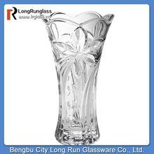 LongRun glassware wholesale home goods beautiful decoration clear glass flower vase