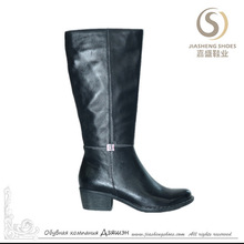 Low heel high quality leather boots for women