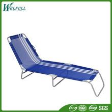 Wholesale Outdoor Furniture Sun Loungers Folding Aluminium Beach Bed