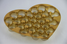 Plastic Metallized PVC Chocolate Tray ,Chocolate heart shaped trays,Disposable trayc,
