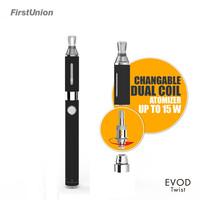 New product elektrikli sigara evod twist 4.2v/5v charging voltage adjustable e cigarette uk