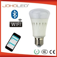 10 million color 8W led wifi bulb ac100-240v buletooth connection led lighting