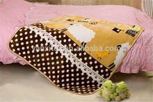 Customize design coral fleece sheep print fleece blanket