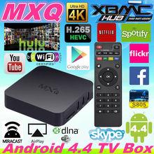 Android TV Box Amlogic S805 Quad Core XBMC 13.2 Gotham Addons 1G/8G WiFi H.265 Video decode Android 4.4 MXQ TV Box