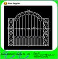 Puerta de hierro fundido, metal de hierro forjado puertas modelos