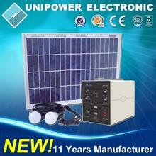 Off Grid Hybrid Wind Power Home Solar Lighting System For Indoor