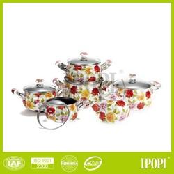 enamel soup pot porcelain dinner ceramic coating cookware