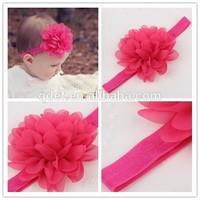 Hot sale, baby girls elastic headband wholesale, baby hairband with flower for kids children girls elastic headband