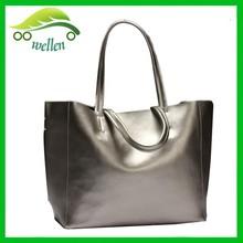 Euro fashion beautiful bright golden and silver tote bag bright tote bag