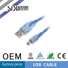 SIPU high quality mini b usb cable usb to stereo mini plug cable factory price