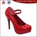 profesional de la fabricación baratos rojo de alta suela de los zapatos de tacón