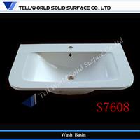 High gloss white sanitary wash basin counter designs