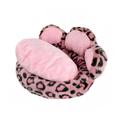 nuevo diseño suave y las patas de la cama del animal doméstico de poliéster cubierta de cojines
