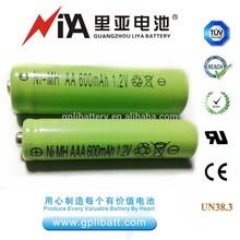 ni-mh 1.2v rechargeable battery aaa 700-1000mah