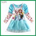 2015 novo produto congelado elsa princesa traje dos desenhos animados