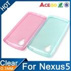 (Acego) 0.3mm Guangzhou transparent soft tpu protective case for lg nexus 5