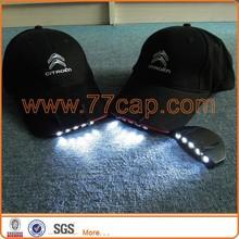 Shenzhen factory glow in the dark led cap