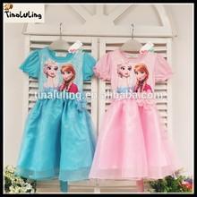 Wholesale Korean summer girl newforzen dress,cotton baby dress 5 pics,size 100-140 cm