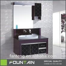 hangzhou xiaoshan black finish round ceramic basin large mirror cabinet furniture