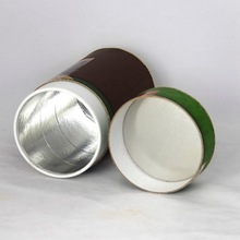 High Quality Cylinder Tea Can with Golden Tinplate Lid