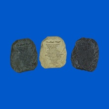 Polyresin Lords Prayer Stone