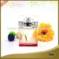 Transparent glass bottle women perfume